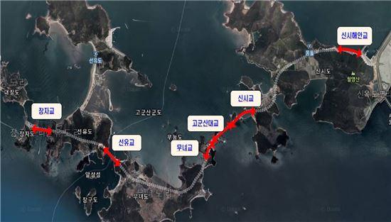전북 군산 고군산군도 교량 위치도(제공: 국토교통부)