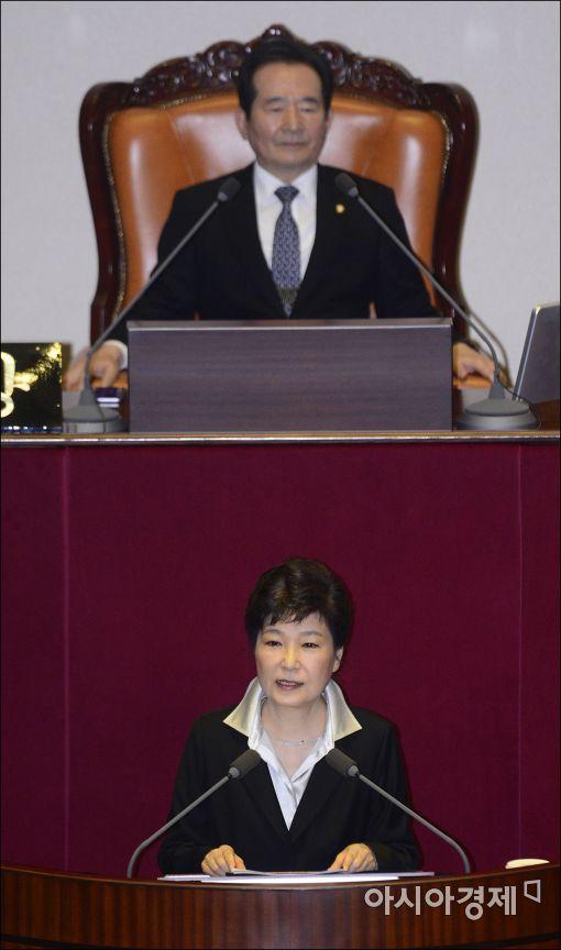 [포토]박근혜 대통령, 2017년도 예산안 시정연설