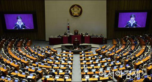 [포토]예산안 시정연설하는 박근혜 대통령
