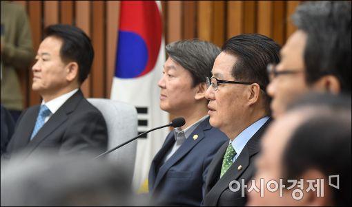 """박지원 """"최순실特檢, 적기 아니다…깃털만 구속될 것"""""""