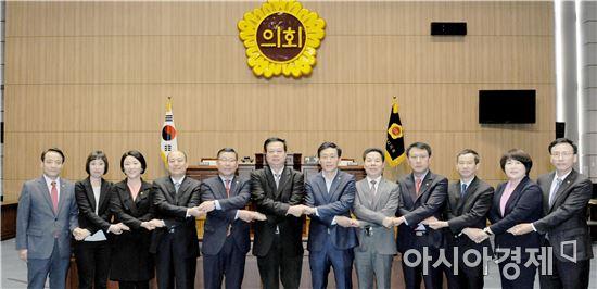 중국 창사시 인민대표대회 상무위원회 대표단,광주시의회 방문