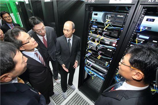 [포토]KT, 올림픽 최초 클라우드 데이터센터 개소