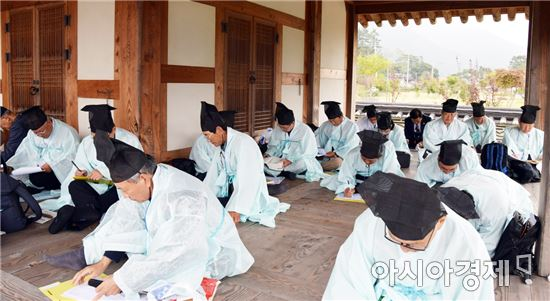 한시 문화 저변 확대…2016 전국 한시 진도 백일장 개최