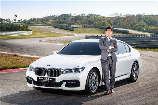 강정호 선수와 BMW 뉴 740d xDrive M.