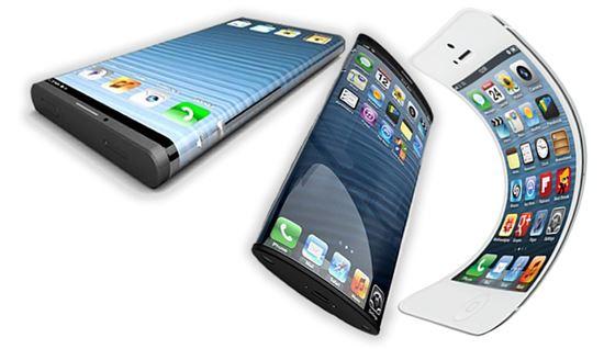 아이폰에 OLED로 곡면 디스플레이를 구현한 컨셉트 이미지