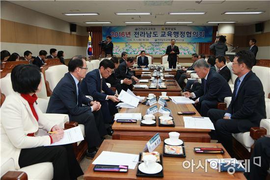 전남도교육청·전라남도, 교육행정협의회 개최