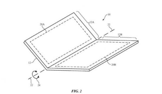 애플이 등록한 접는 스마트폰 특허(이미니 출처:Geek)
