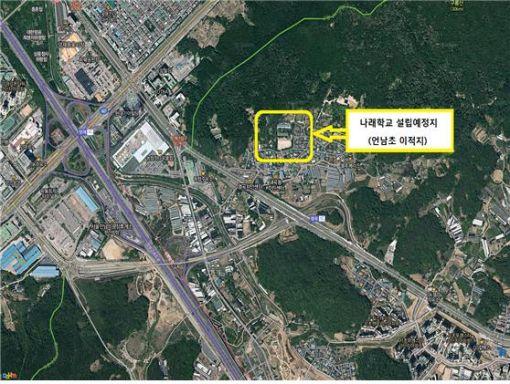 서울 서초구 염곡동 '나래학교(가칭)' 위치도