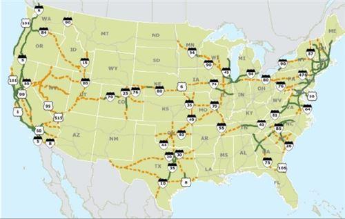 미국 정부에서 발표한 고속도로 고속충전 네트워크 건설안 <자료=유진투자증권>