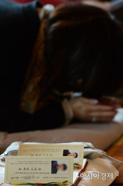 [포토]어머니의 학업성취 기도