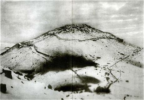 뤼순 공방전 최대 격전지였던 203고지 모습(사진=위키백과)