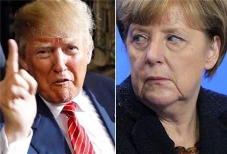 ▲도널드 트럼프 미국 대통령 당선자와 앙겔라 메르켈 독일 총리