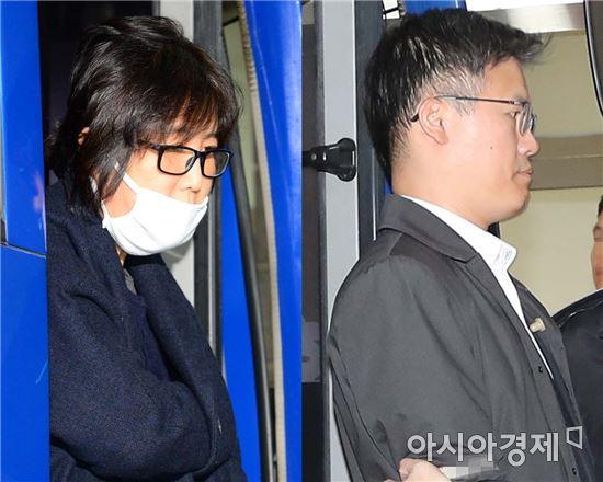 최순실씨와 정호성 전 청와대 부속비서관(오른쪽)의 모습 (사진=아시아경제DB)