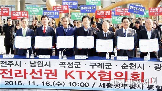 """전라선권 시장·군수들 """"철도정책 지역차별, 더는 못 참아"""""""