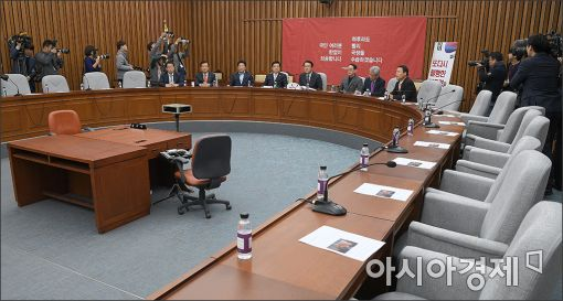 [포토]썰렁한 새누리당 회의
