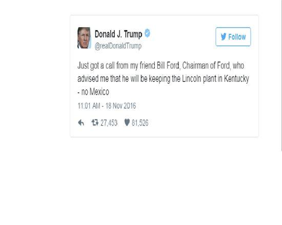 트럼프의 트위터