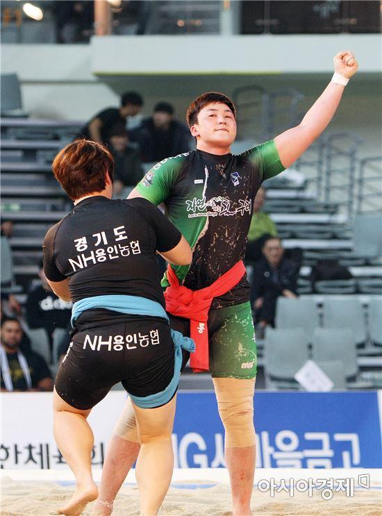 구례군청 반달곰 씨름단 조현주, 2016 천하장사 씨름대축제 무궁화장사 등극