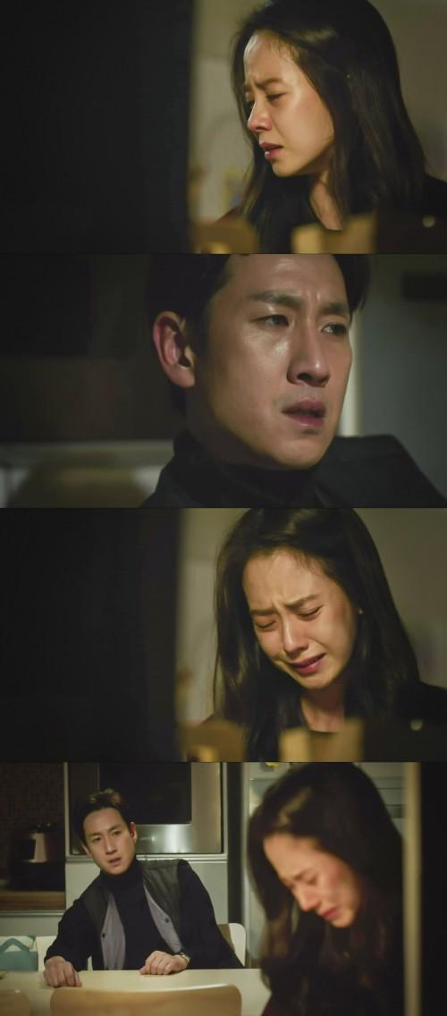 송지효 이선균. 사진=JTBC '이번 주 아내가 바람을 핍니다' 방송 캡쳐