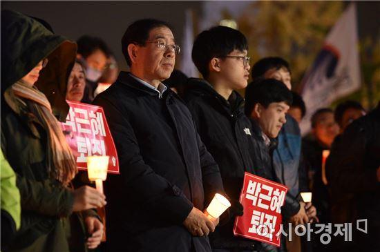 박원순 서울시장 촛불집회. 사진제공=서울시