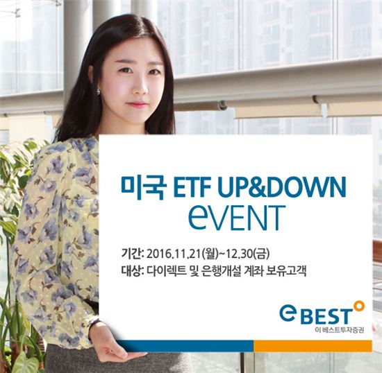이베스트투자증권, 미국 ETF 매매수수료 할인 이벤트 시행