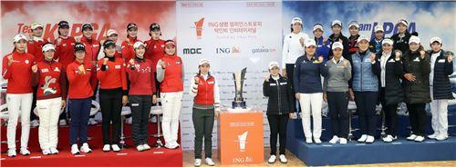 박인비인비테이셔널 출전 선수들이 대회를 앞두고 선전을 다짐하고 있다. 사진=KLPGA