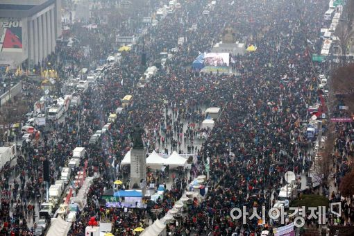 [포토]광장 가득 메운 시민들