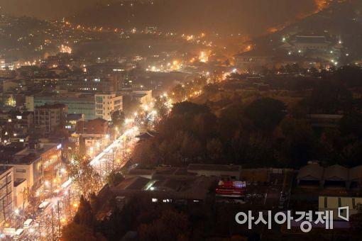 [포토]촛불행진 그리고 불꺼진 청와대