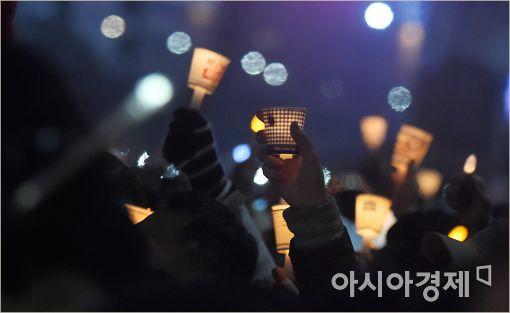 [포토]촛불로 물든 광화문 광장