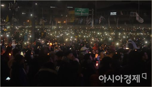 [포토]광화문 밝히는 촛불