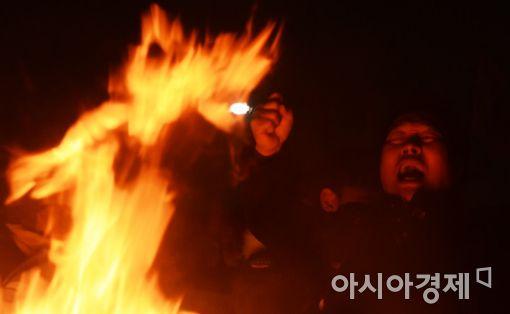 """[포토]분노의 외침, """"즉각 퇴진하라"""""""