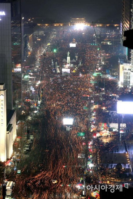 [포토]청와대로 향하는 백만촛불