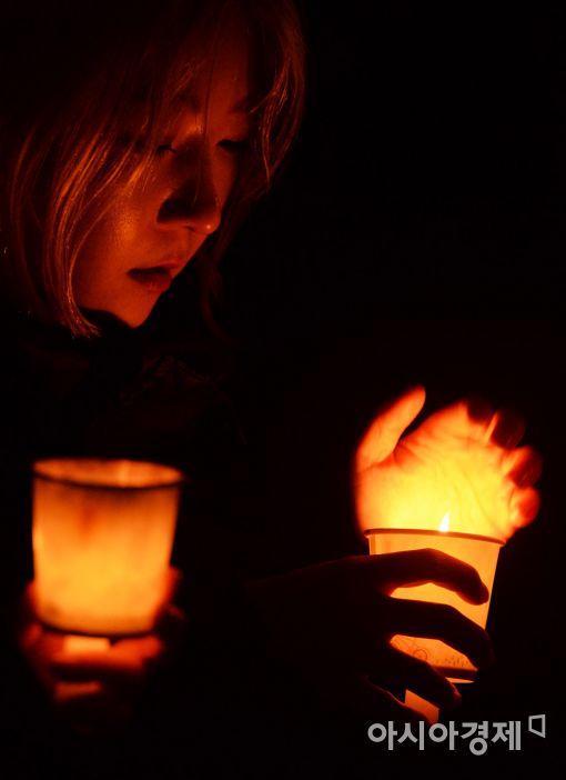[포토]'촛불이 있어 춥지 않다'