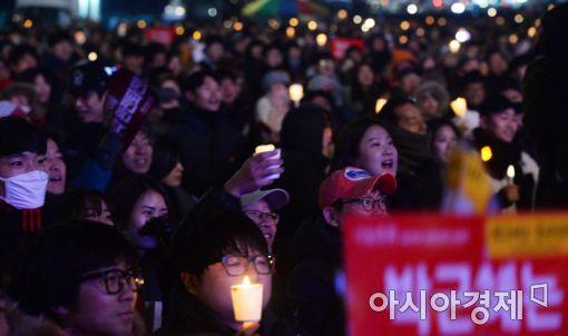 [포토]1박 2일 밤샘 촛불집회