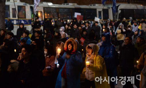 [포토]다시 광장으로… '1박 2일 촛불집회'