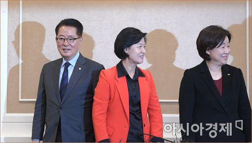 [포토]한자리에 모인 야3당 대표