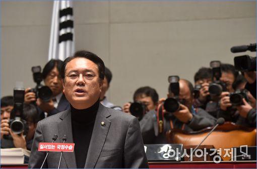"""與의원 비난문자 폭탄에 정진석 """"홍위병식 선동"""" 비판"""