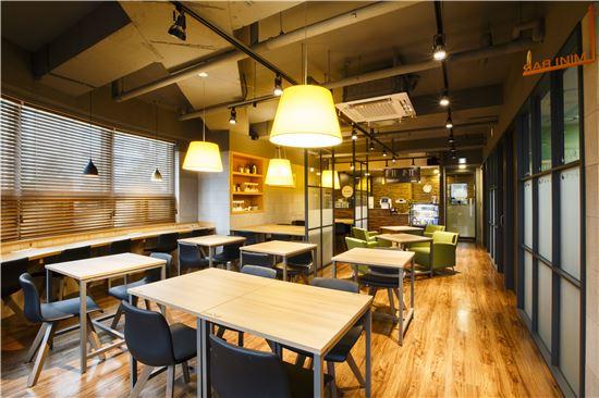 레인보우의 카페형 독서실. 사진제공=레인보우