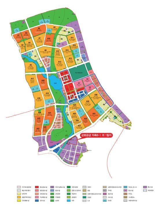미사강변도시 토지이용계획도(제공: LH)