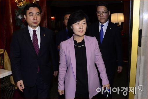 [포토]김무성 전 대표와 회동 마친 추미애 대표
