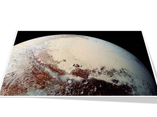 ▲명왕성의 스푸트니크 평원에 대한 비밀이 하나씩 벗겨지고 있다.[사진제공=NASA]