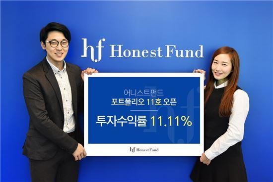 어니스트펀드 투자상품 11호 판매…모집금액 11억9000만원