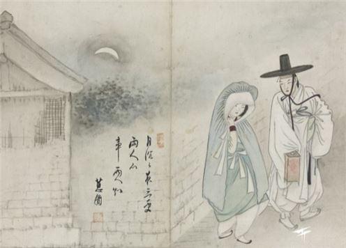 신윤복의 월하정인(月下情人) 그림(사진=간송미술문화재단)