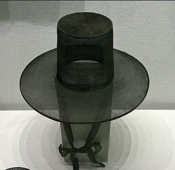 조선시대 양반들이 쓰던 갓(사진=두산백과)