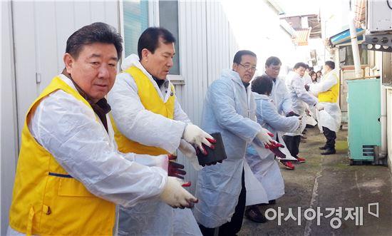 김제시 경찰발전위원회,신풍동 어려운 불우가정 사랑의 연탄 나눔