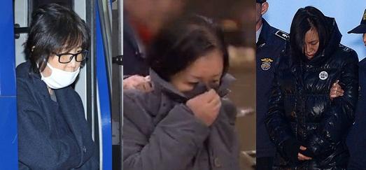 ▲최씨 일가. 최순실, 최순득, 장시호 (사진=아시아경제 DB, SBS 방송캡쳐)