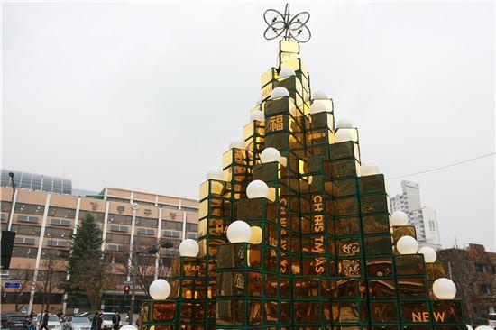 강동구청 광장 크리스마스 트리