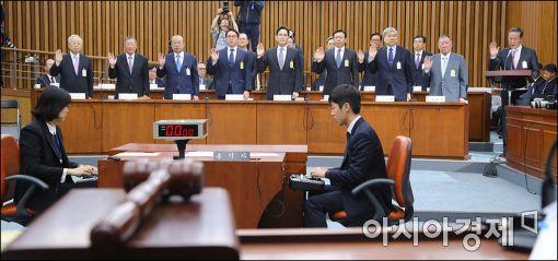 [재계총수 청문회] 몸 낮춘 9개 기업…'삼성 미전실 폐지' '전경련 탈퇴' (종합)
