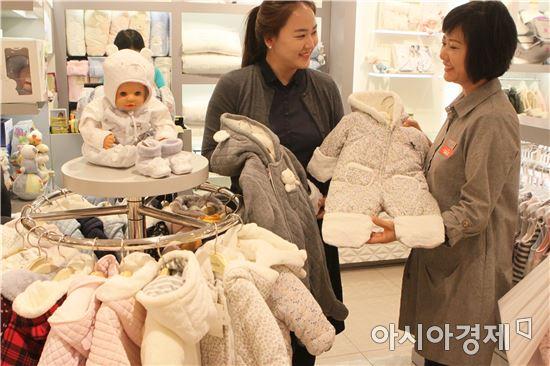 """[포토]롯데百광주점 """"우리아이 첫 겨울 외출복"""""""