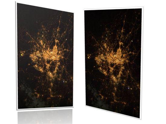 ▲불밝힌 서울의 모습이 ISS에서 포착됐다.[사진제공=NASA]