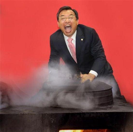 이정현 새누리당 대표 풍자 사진 / 사진=허지웅 인스타그램 캡처